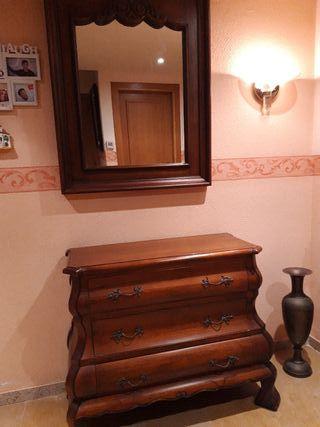 mueble recibidor madera maciza