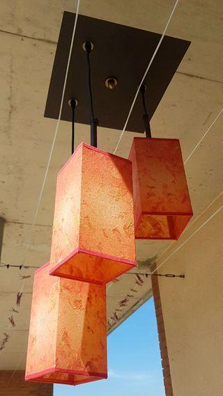 GANGA. Lámpara 3 Bombillas bajo consumo. PERFECTA