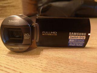 Videocámara Samsung para zurdos y diestros