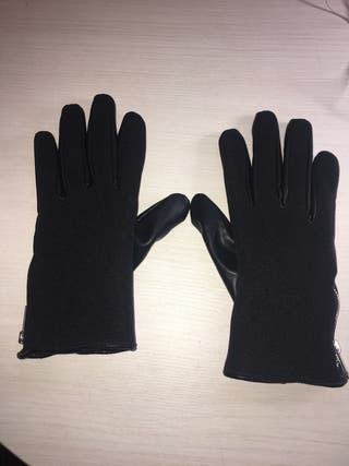 Guantes mujer negros.