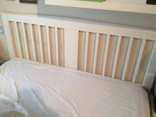 Cabecero cama madera blanca