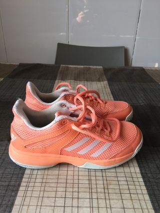 Zapatillas niña tenis Padel Adidas