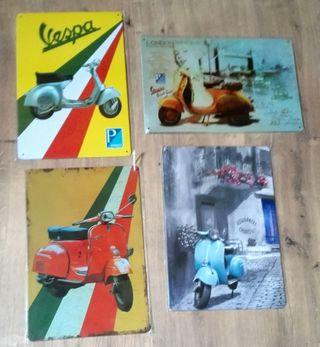 Lote de carteles Moto Vespa