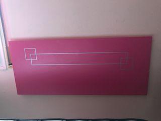 Cabecero color rosa