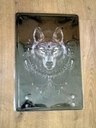 Cartel decoración con Lobo.