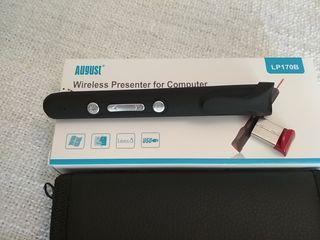 Mando inalámbrico para presentaciones con láser