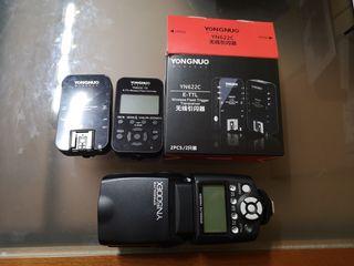kit de flash para canon ettl y hss wireless