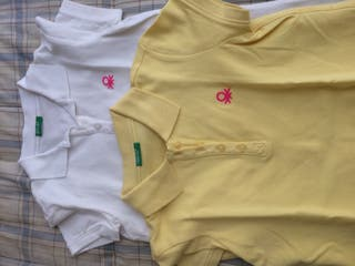 2 Polos niña Benetton 10 años (7€ solo uno)