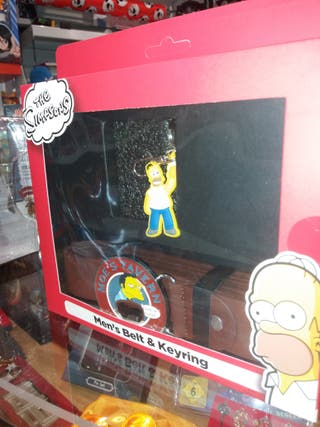 Pack Cinturon y llavero Los Simpsons