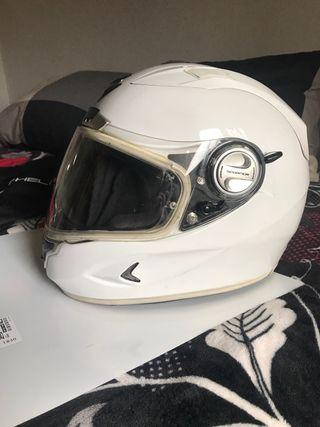 Casco moto blanco