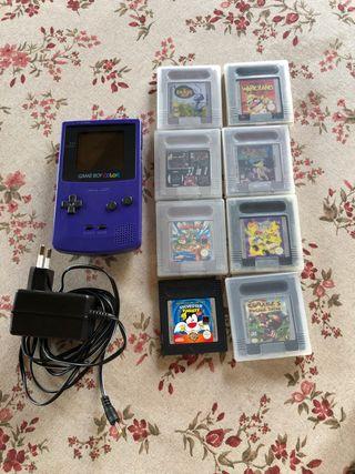 Game Boy color + 8 juegos
