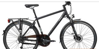 Bicicleta urbana/trekking hoprider 700 negra