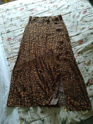 Falda de estampado talla M
