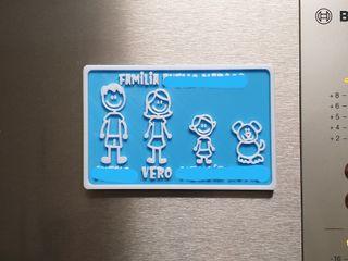 Imán familia personalizado para nevera