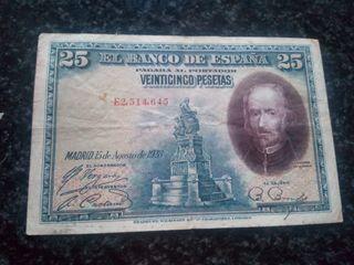 billete de 25pst15agosto1928