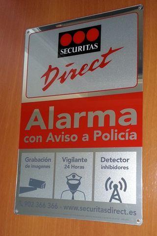 Alarma Cartel Seguridad