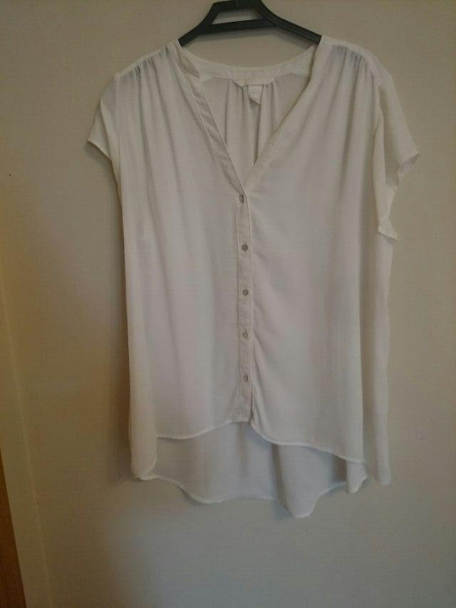Camisa corta blanca