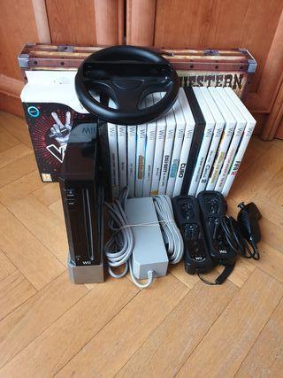 wii + mandos + accesorios + 18 juegos