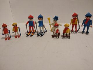Playmobil invierno esquis trineo patines