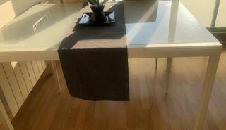 MESA COMEDOR EXTENSIBLE BLANCA IKEA GLIVARP