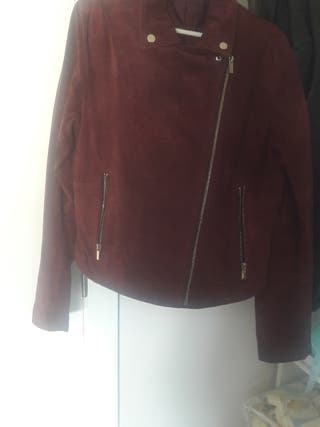 chaqueta de ante de zara