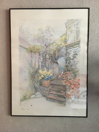 Acuarela pintor F.Neri