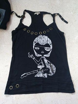 Camiseta rockera Inside talla L