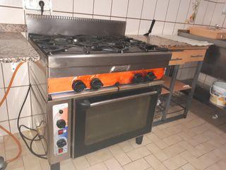 Cocina industrial de gas butano