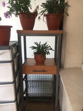 Mueble de cocina con botellero y 2 cajones