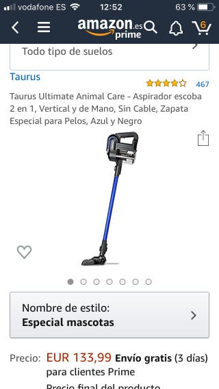Aspirador sin cable Taurus