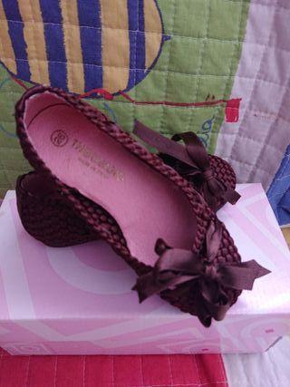 Bailarina zapatos niña ceremonia