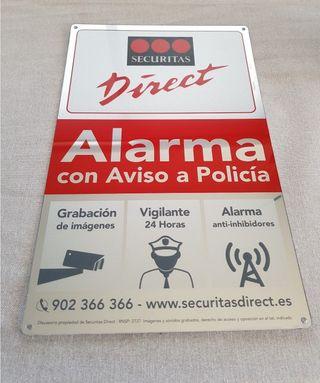 Cartel Seguridad Alarma
