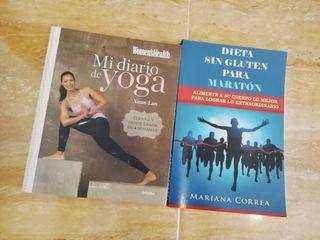 libros yoga y dieta sin gluten para maratón