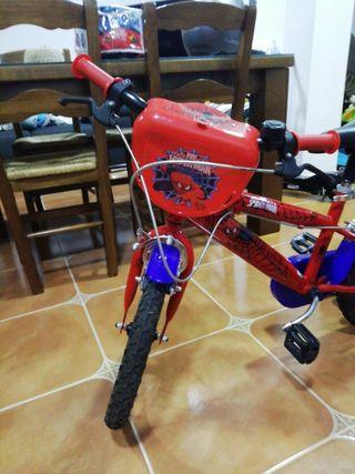 Bicicleta Spiderman niñ@