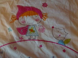 Nórdico Caperucita para cuna con sábana bajera