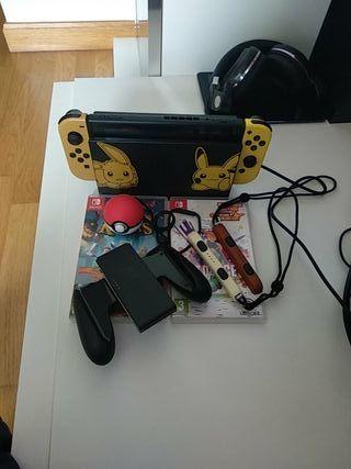 Nintendo switch con 4 juegos