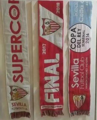 3 Bufandas Sevilla FC