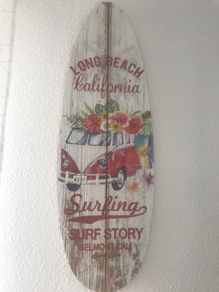 Tabla de surf decoracion
