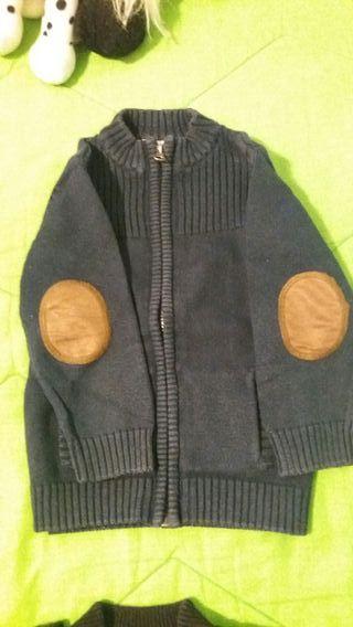 chaqueta con coderas talla 2.3años