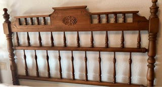 Cabecero cama madera maciza 1'35cm
