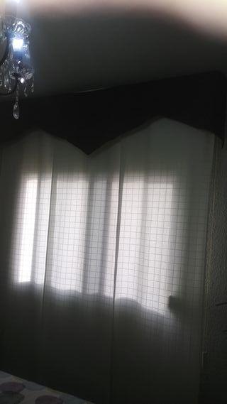 cortina panel japones.190×240.beig y granate adorn