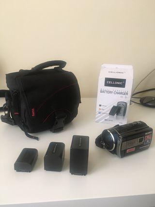Videcamara Sony con proyector