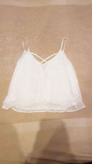 Camisa blanca de tirantes.Talla M