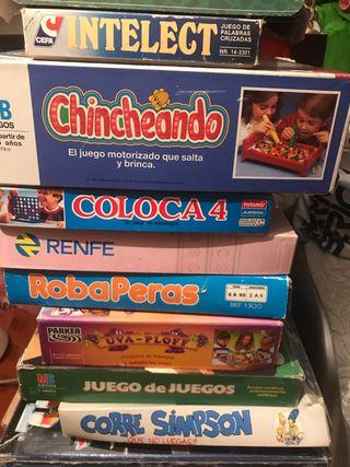 Juegos variados de sobre mesa