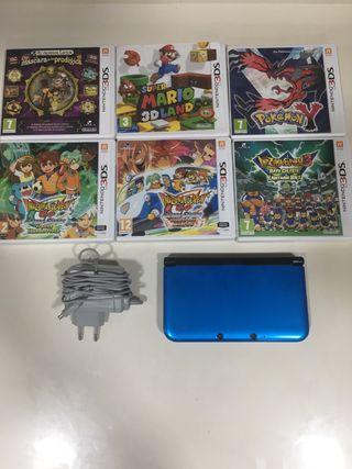 NINTENDO 3DS XL -- 6 JUEGOS -- CARGADOR NINTENDO