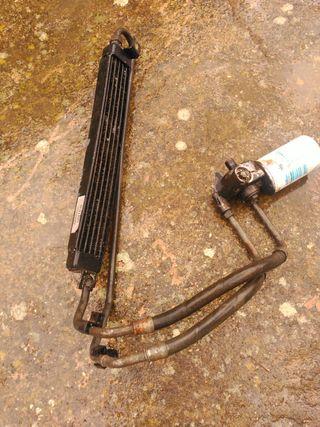 bmw e30 radiador aceite con portafiltros
