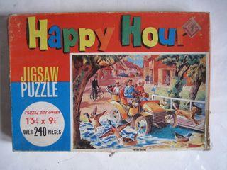 puzzle rompecabezas antiguo jigsaw happy hour