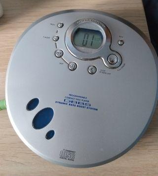 discman reproductor música cd .Compact disc