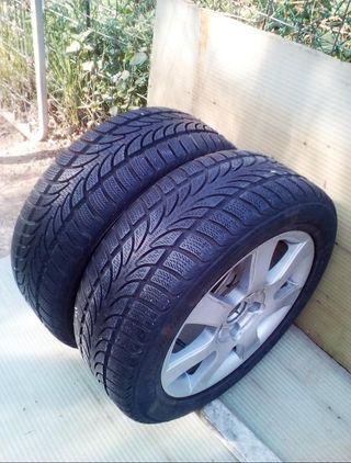 2 ruedas 205/55/R16 91H m+s 5 tornillos