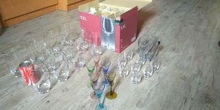 Copas y vasos cristal + Cubitera
